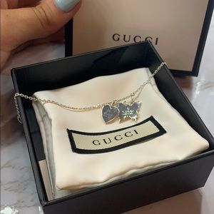 Retired GUCCI Bracelet heart + butterfly